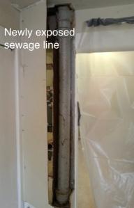 sewage line