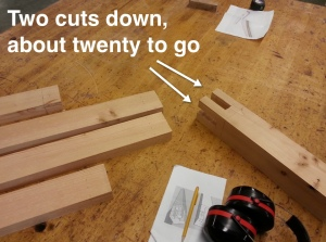 two cuts